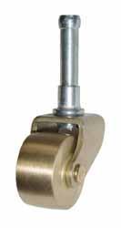 Brass Spinet Caster